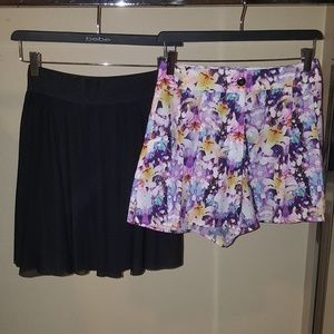 Bebe skirt Size:Small & Bebe floral shorts Size:4